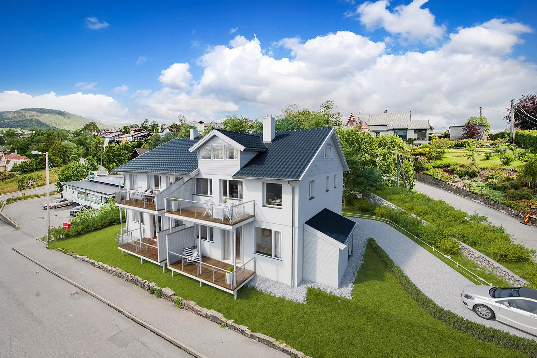 Wizualizacja domu wielorodzinnego. Norwegia.